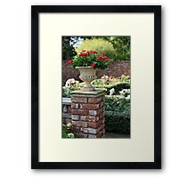 Vase with red roses Framed Print