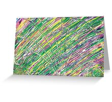 Light Streams in concentric circles Greeting Card