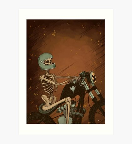 Spook Night Rider Art Print