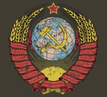 Soviet Coat of Arms - distressed look by Carl Greenwood