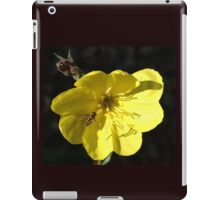 Aiming for the centre - Hover fly on Evening Primrose iPad Case/Skin