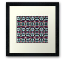festive Christmas holly pattern Framed Print