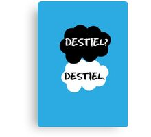 Destiel - TFIOS Canvas Print