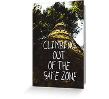Climbing Out Of The Safe Zone | Low Angle Photography #redbubble #decor #card Greeting Card