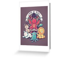 Game Of Toys Greeting Card