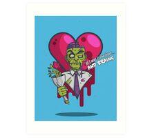 Zombie Valentine Art Print
