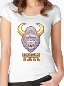 Fighting Yeti Sports Logo Women's Fitted Scoop T-Shirt