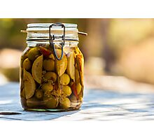 Pickled Olives Photographic Print