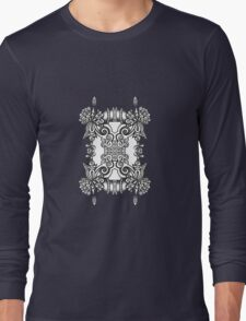 SYMMETRY - Design 012 (B/W) Long Sleeve T-Shirt
