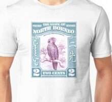 1939 North Borneo Palm Cockatoo Postage Stamp Unisex T-Shirt