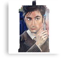 """""""Number 10"""" - Tardis shirt Canvas Print"""