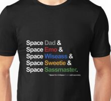 Voltron - Paladins IN SPACE! Feat. Allura & Coran (For Dark Backgrounds) Unisex T-Shirt