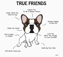 True Friends Frenchie  Baby Tee