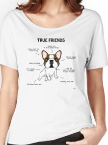 True Friends Frenchie  Women's Relaxed Fit T-Shirt