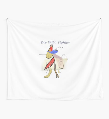 The BULL Fighter Wall Tapestry