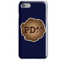 PD Axe on Wood Grain iPhone Case/Skin