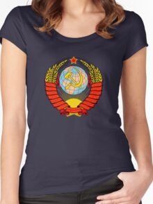 Soviet Coat of Arms Women's Fitted Scoop T-Shirt