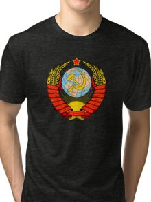 Soviet Coat of Arms Tri-blend T-Shirt