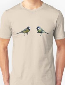 Great Tits Graphic Vector Tee Unisex T-Shirt