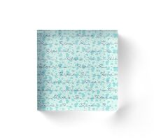 Vector seamless background with blue hearts with the inscription, the inscription with love Acrylic Block