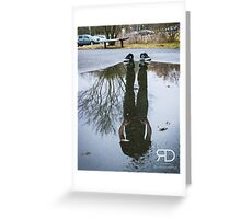 Lost in reflections Greeting Card