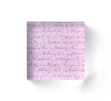 Vector seamless background with purple hearts with the inscription, the inscription with love Acrylic Block
