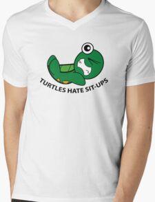 Turtles Hate Sit-Ups Mens V-Neck T-Shirt