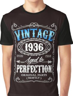 80th birthday gift for men Vintage 1936 aged to perfection 80 birthday Graphic T-Shirt