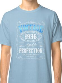 80th birthday gift for men Vintage 1936 aged to perfection 80 birthday Classic T-Shirt