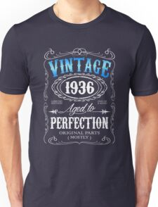 80th birthday gift for men Vintage 1936 aged to perfection 80 birthday Unisex T-Shirt