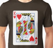 Kitty King of Hearts Unisex T-Shirt