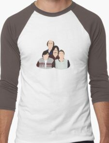 'Derek' / 'Ricky Gervais' / 'Karl Pilkington' Vector Artwork Men's Baseball ¾ T-Shirt