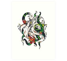 Rosey tentacles Art Print