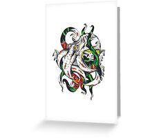 Rosey tentacles Greeting Card