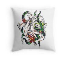 Rosey tentacles Throw Pillow
