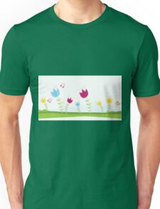 Tulips. Spring flowers. Vector Illustration. Unisex T-Shirt