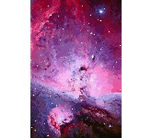 Pixel Pink Nebula Photographic Print