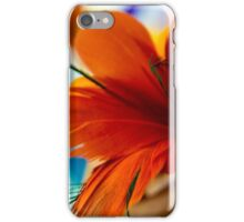 Orange feather flower iPhone Case/Skin