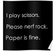 """""""Please Nerf Rock"""" Poster"""