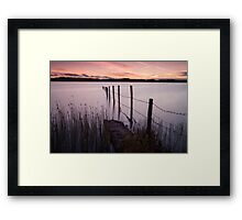 Kenfig Pool posts Porthcawl Framed Print