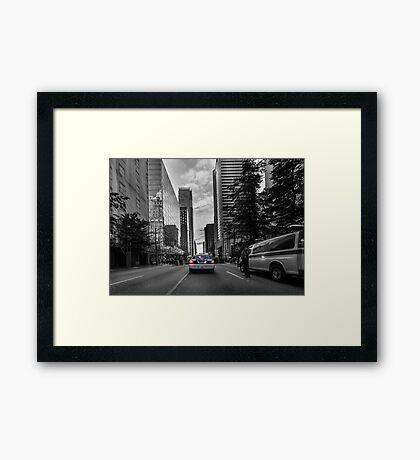 Canadian police car Vancouver Framed Print