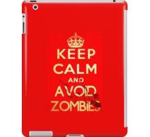 Keep Calm Theory-Zombies Avoid iPad Case/Skin
