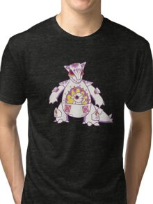 Kangaskhan Pokemuerto | Pokemon & Day of The Dead Mashup Tri-blend T-Shirt