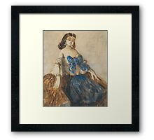 CONSTANTIN GUYS ; THE BLUE RIBBON Framed Print