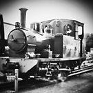 Peronne the big black steam train by AprilRichardson