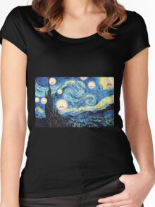 Screaming night Women's Fitted Scoop T-Shirt