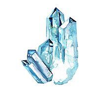Aqua Aura Quartz Crystal  Photographic Print