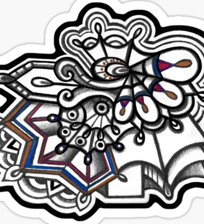 Abstract Dimensions (Color) Design 015 Sticker