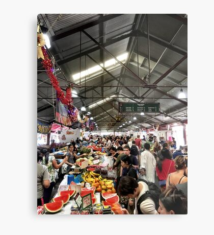 People Browsing The Markets Metal Print