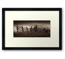 Old fence on Mt Washington Framed Print